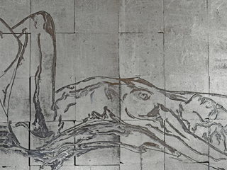 Nude in Silver Reclining