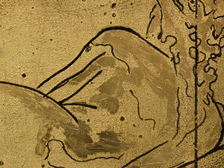 Reclining Nude in Gold