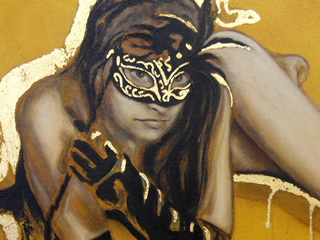Mask Nude in Gold