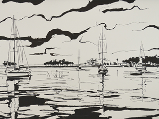 Sail Away in White and Grey, 2015.
