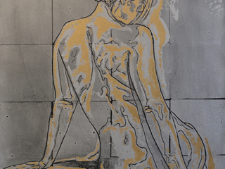 Nude in Silver and Gold, 2017.